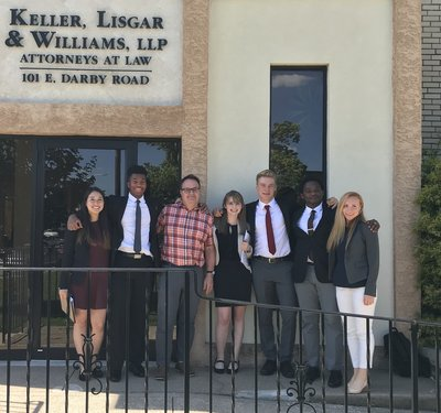 The SBAN UII Interns stand with their mentor outside Keller, Lisgar & Williams, LLP law offices.