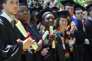 Swarthmore Students at Graduation