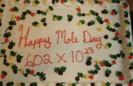 2013 Mole Day Cake