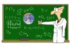 Chemist at chalkboard