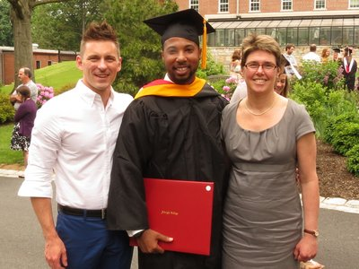 Chris with Darryl Hester and Pam Artz at Darryl's graduation.