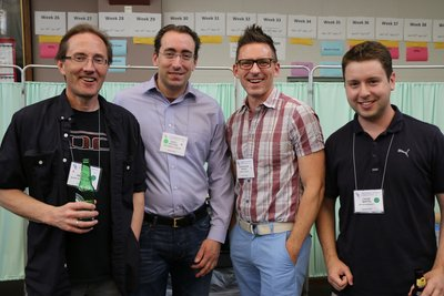 Chris with other Chemists at the Inorganic GRC
