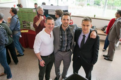 Chris with Pat and Thomas at their honors presentation.