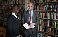 A student with mentor Anthony Foy