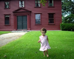 Alan's daughter, Chloe, on Whitehall's front lawn.