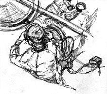 a sketch by Christie DeNizio