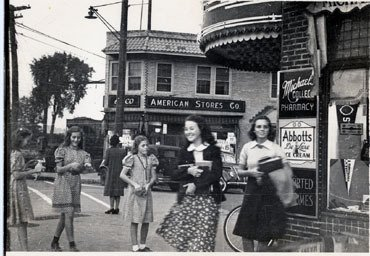 Photograph of Michael's College Pharmacy about 1942