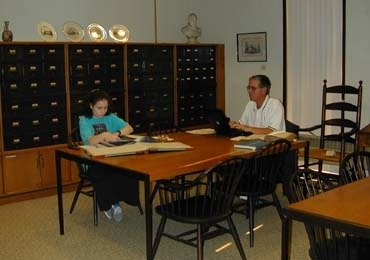 Photograph of the Reading Room of Friends Historical Library