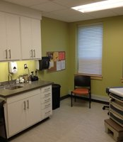 Student health treatment room