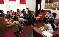 Students hanging out in the Black Cultural Center