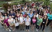 Students at a diversity, inclusion, and community development event