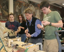 engineering lab with Carr Everbach
