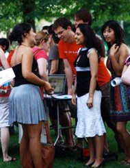 The school year begins at Swarthmore College