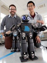 Professor Matt Zucker and Student Keliang He