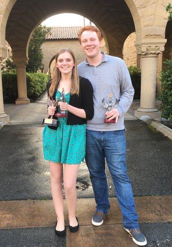 Miriam Pierson '18 and Nathaniel Urban '18
