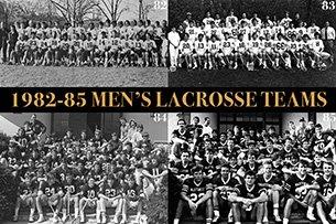 1982-85 men's lacrosse team pics