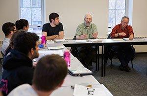 Ken Sharpe and Barry Schwartz in class