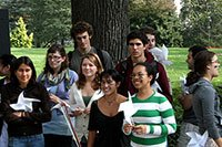 Students with windmills