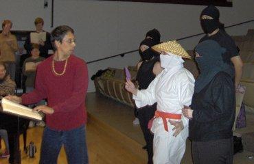 Ninjas spreading Valentine love