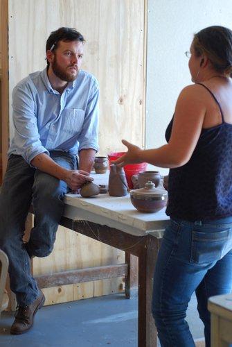 Assistant Professor Logan Grider teaching