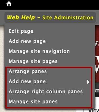 Advanced users have additional privledges revolving aroun pane management
