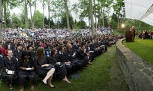 Baccalaureate crowd in amphitheater