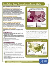 PA Insufficient Sleep Fact Sheet National Center for Chronic Disease Prevention and Health Promotion Division of Adult and Community Health