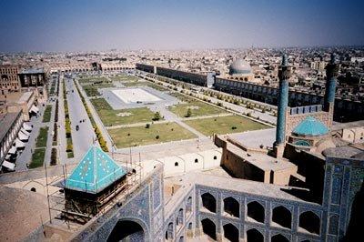 Main public area in Isfahan