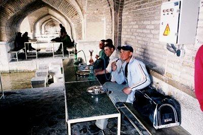 Inside the bridge of Isfahan