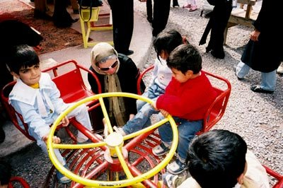 Children at the day care center in Bam