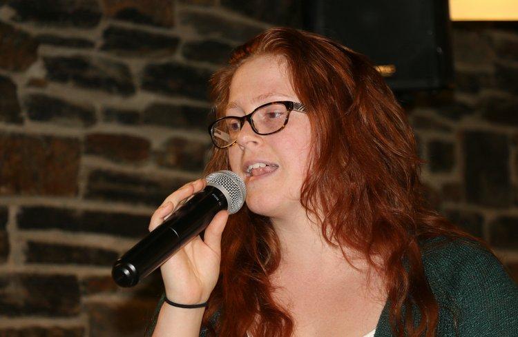 April Deminie Performing