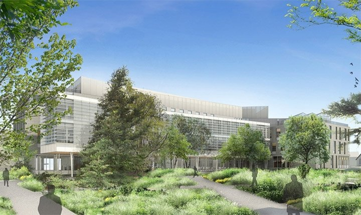 An illustration of the forthcoming Biology, Engineering, and Psychology Building