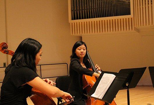 A cello duet.