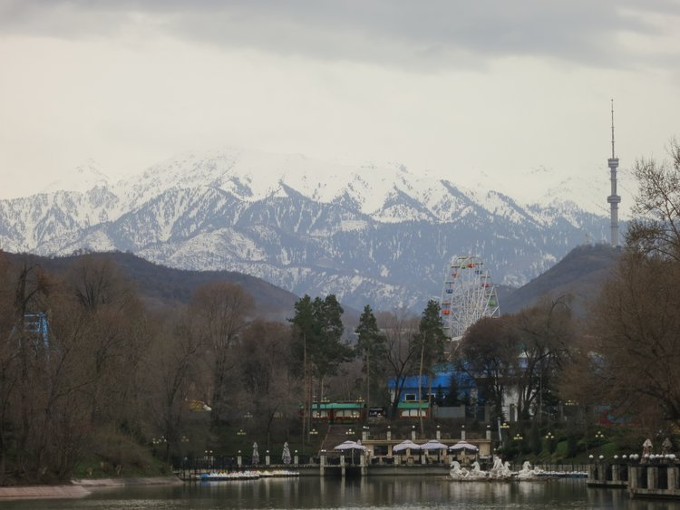 Central Park in Almaty, Kazakhstan