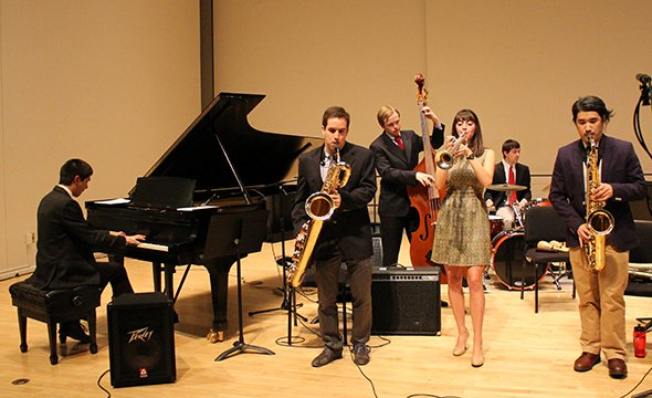 A Jazz Combo performs as part of the Fetter Chamber Music Program.
