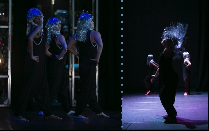 Modern Dancers with silver wigs