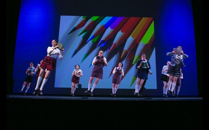 Tap dancers school theme