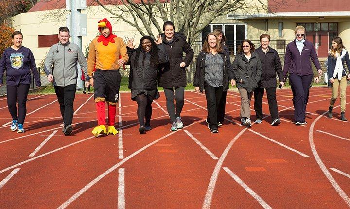Community members walk on track for 2018 turkey trot