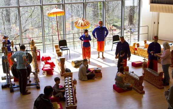 Gamelan Semari Santi holds a workshop in the Lang Concert Hall