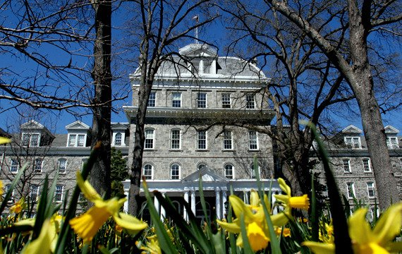 Parrish Hall in the Spring