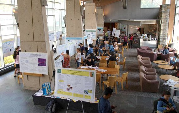 Eldridge Commons in the Science Center is a popular hangout