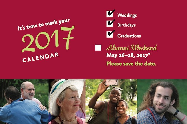 It's time to save the date for Alumni Weekend 2017