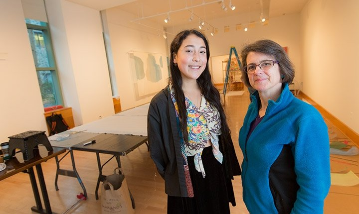 List Gallery Director Andrea Packard and intern Tess Wei '17