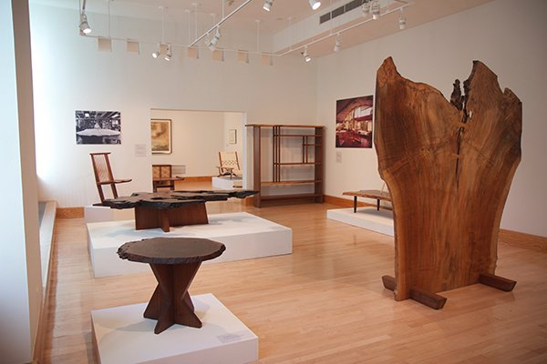 Nakashima exhibit in the List Gallery