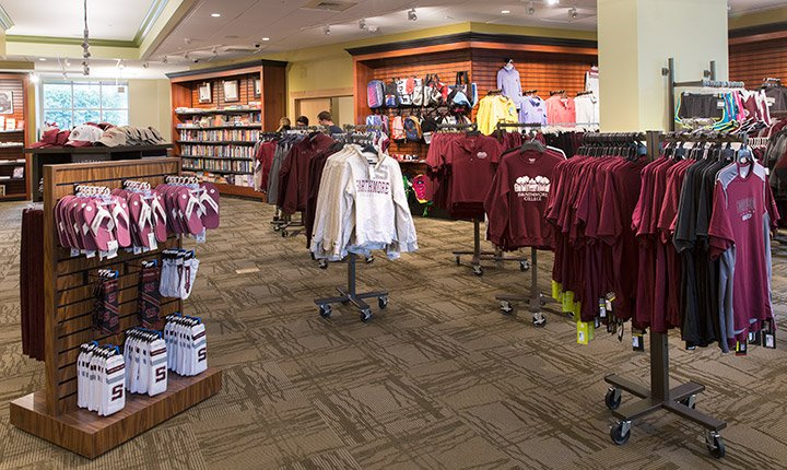 Interior of the new Campus and Community Store
