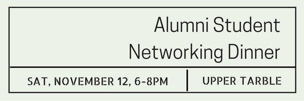 alumni student networking dinner