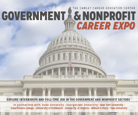 government and non profit career expo logo