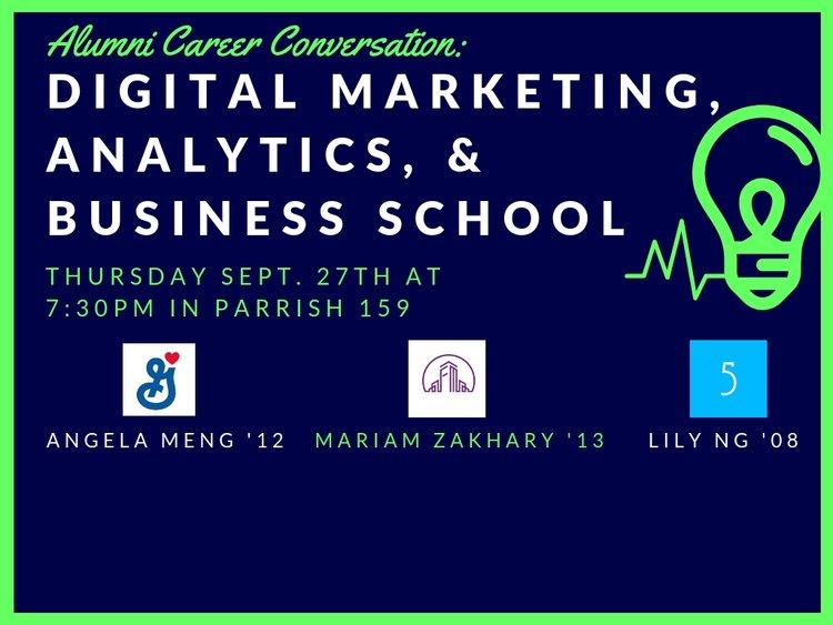 Digital Marketing, Analytics, & Business School (9/26)