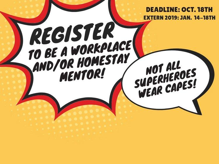 extern mentor registration
