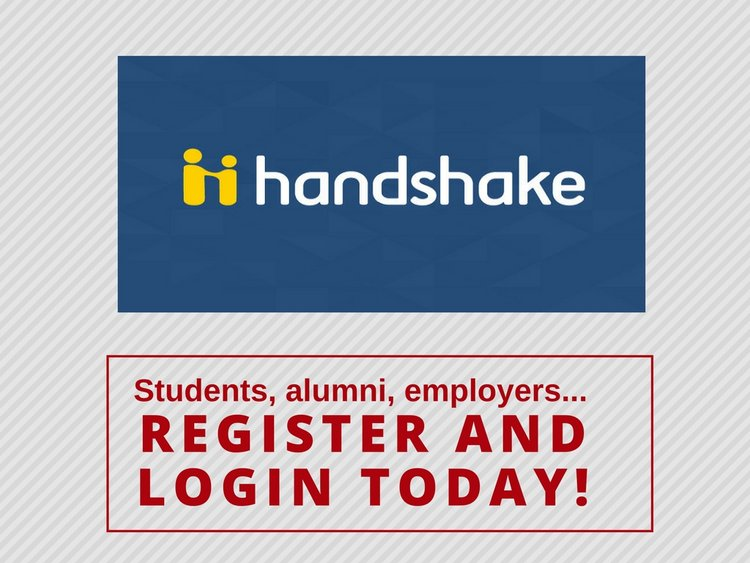 students, alumni, and employers should register and log into handshake today
